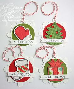 I love this idea for gift tags for any occasion.  :)