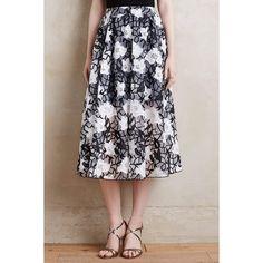 Erin Fetherston Organza Gardenia Skirt ($295) ❤ liked on Polyvore featuring skirts, erin fetherston, organza skirt and a line skirt