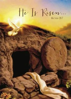 Christian Easter Card Empty Tomb of Jesus Christ ~~~ Croix Christ, Christian Greeting Cards, Resurrection Day, Jesus Christus, Jesus Pictures, Cross Pictures, Jesus Is Lord, Jesus Is Risen, Christian Posters
