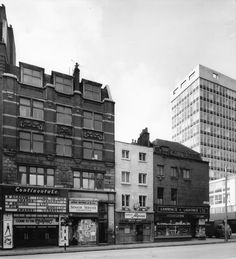 Tottenham Court Road • Junction with Percy Street • 1972