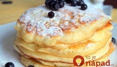 Pancakes at yogurt in 30 minutes: the perfect breakfast. How To Cook Pancakes, Crepes And Waffles, Cookie Desserts, Cookie Recipes, Dessert Recipes, Breakfast Recipes, Smoothie Fruit, Delicious Desserts, Yummy Food