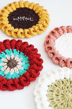 방울방울 방울꽃 코바늘 티매트 뜨기 : 네이버 블로그