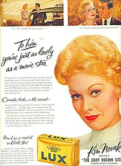 Lux Soap - KIM NOVAK - ad 1956
