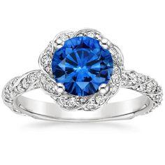 18K White Gold Sapphire Cordoba Diamond Ring from Brilliant Earth