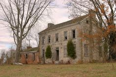 "Built in 1799 by Alexander Outlaw for his son-in-law Joseph Hamilton. This building was recently added to the Tennessee Preservation Trust's ""Ten in Tennessee"" list.a roster of some of the state's most endangered historic sites. Abandoned Property, Old Abandoned Houses, Abandoned Mansions, Abandoned Buildings, Abandoned Places, Old Houses, Abandoned Plantations, Morristown Tennessee, Morristown Tn"