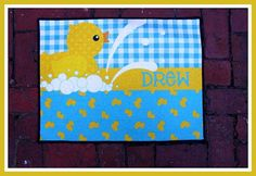 Items similar to Nursery Rug Personalized Monogrammed Gifts New Baby Gift Nursery Decor Baby Girl Baby Boy Nursery Rug Mat Customized Rubber Duck Nursery Art on Etsy Duck Nursery, Baby Girl Nursery Decor, Nursery Rugs, Baby Boy Nurseries, Nursery Art, Baby Room, Nursery Ideas, Rubber Duck Bathroom, Baby Wall Art
