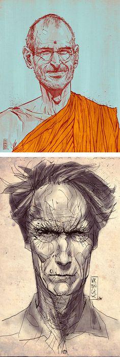 Illustrations by Gilles Vranckx | Inspiration Grid | Design Inspiration