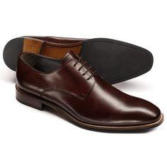 Brown Regent contrast welt Derby shoes