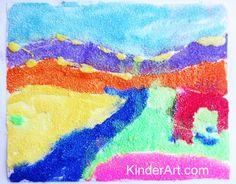 Sand Painting Lesson Plan: Multicultural Art and Craft Lessons for Kids: KinderArt Preschool Art Lessons, Lessons For Kids, Art Activities, Kindergarten Art, Toddler Preschool, Primary School Art, Elementary Art, Sand Painting, Sand Art