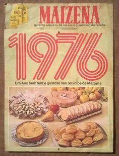 maizena - calendário com receitas de 1976 - raridade!