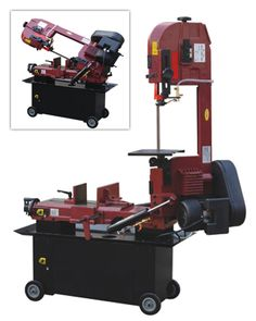 This dual voltage horizontal/vertical large capacity Northern Industrial Tools Bi-Metal Cutting Band Saw has all the features needed for professional results when it comes to metal cutting.