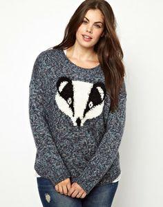 Badger Badger Badger!                       New Look Inspire Badger Jumper