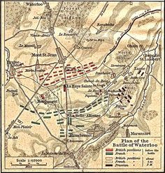 Napoleon was clever to draw a map of his enemies' positions, so he could pinpoint where their weaknesses were. This was a famous battle plan for the Battle of Waterloo.
