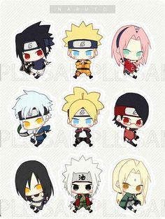 Anime Naruto, Naruto Shippuden Sasuke, Naruto Kakashi, Naruto Teams, Naruto Cute, Gaara, Deadpool Chibi, Chibi Marvel, Chibi Spiderman