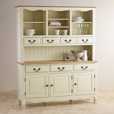 Bella Brushed Oak and Painted Large Hutch