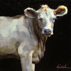 Ahhh, what a cute face! Wouldn't this look great in a kitchen, maybe in an eating nook? A Painting Today