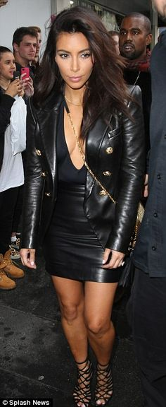 Going hell for leather! The 33-year-old has been stepping out in a variety of skintight ou...
