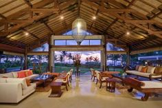 Villa Semarapura is a beachfront villa comprising a series of pavilions, swimming pool and ornamental ponds. Villa Semarapura is in Seseh-Tanah Lot, Bali. Dream Home Design, My Dream Home, House Design, Dream Homes, Beautiful Villas, Beautiful Hotels, Balinese Villa, Barn Loft, Luxury Villa Rentals