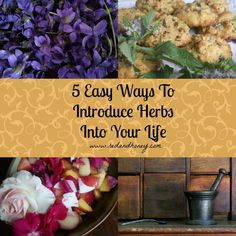 5 easy ways to introduce herbs into your life.