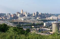 view of cincinnati from devou park. boyfriend's hometown is covington, ky and i love visiting with him! definitely a huge difference from california