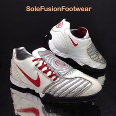 best authentic b09bd 6288f Nike mens Total 90 Turf Football Trainers White Red sz 8.5 Shoot Soccer  Shoes 43
