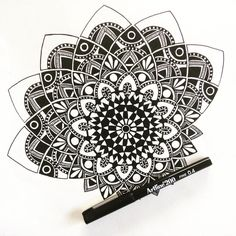 I decided to 'rework' my last drawing because I wasn't getting 'the vibe'.....crap I'm still not feeling it! #draw #drawing #doodle #doodling #doodleart #mandala #pattern #design #pen #paper #ink #black #artline #tattoo #art #myart #boho #gypsy #hippy #hippie #inspired #sketch #beautiful_mandalas #wip