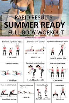 ☀️ How to Get Summer Body in a Month: Women's Rapid Fat Burner! You'll be Amazed! - Transform Fitspo - Fitness - Global Websites - ☀️ How to Get Summer Body in a Month: Women's Rapid Fat Burner! You'll be Amazed! Fitness Motivation, Fitness Workouts, Circuit Training Workouts, Weekly Gym Workouts, Obesity Workout, Weekly Workout Schedule, Muscle Building Workouts, Planet Fitness Workout, Body Fitness