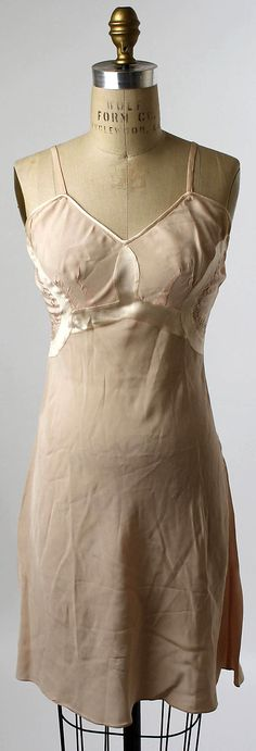 Slip  Date: 1940–59 Culture: American Medium: silk