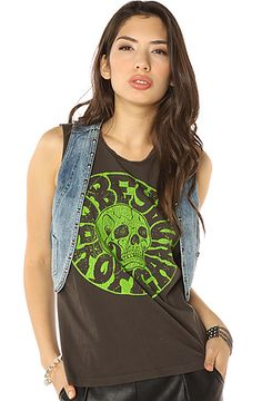 Obey The Joy Ride Denim Vest in Vintage Indigo #MissKL #MissKLCoachella #Coachella