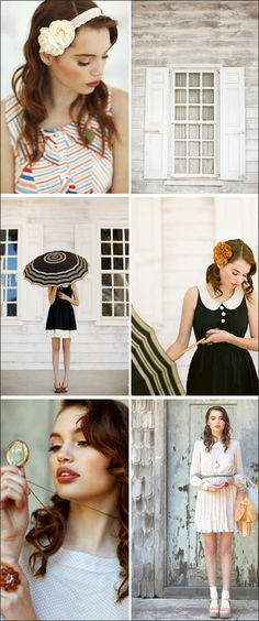 Lovely looks for a senior photo session. Don't forget the simple but lovely accessories such as a vintage headband or flower in the hair
