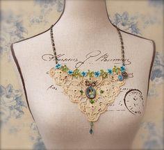 Vintage Lace Statement Bib Romantic Victorian by PaulasFavorites, $115.00