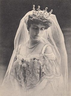 "Princess Natalija of Montenegro. ""Queen Elena of Montenegro [lent her] emerald and diamond tiara to her sister-in-law, Princess Natalia of Montenegro on at least one occasion. The present whereabouts of the tiara are unknown...probably dismantled and/or sold."" Artemisia's Royal Jewels."