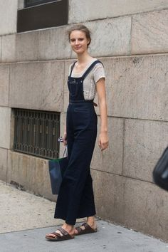 a modern take on overalls as we transition from summer to fall.