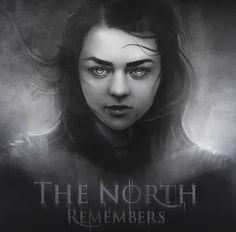 ArtStation - The North Remembers, Alchemy Art Game Of Thrones Arya, Game Of Thrones Poster, Game Of Thrones Houses, Vikings, Game Of Thones, Alchemy Art, Got Dragons, The North Remembers, King In The North