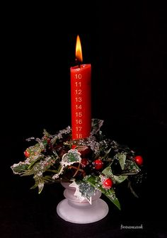christmas candle by Kinesthesis, via Flickr