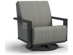 Sling Aluminum Arm Chair, Cushion Seating, Swivel Rocker Lounge Chair, Outdoor Chair, Office Furniture Very durable and light weight aluminum material Minimal maintenance required Suitable to be used anywhere outside Available in various powdered coated finishes Offered in wide selection of sling options Arm handles are offered for comfort and style Features swivel rocking motion for relaxation and comfort Patio Lounge Chairs, Patio Seating, Outdoor Chairs, Outdoor Furniture, Office Furniture, Chair Types, Cushion Fabric, Furniture Collection, Outdoor Living
