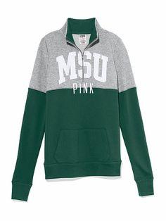Michigan State University Colorblock Half Zip Pullover