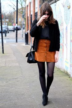 styling a suede skirt - Google Search