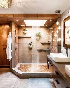 Moderne Hausdesign-Ideen 2019 House design plan with 3 bedrooms Haus Design Plan mit 3 Schlafzimmern - Home Design with Plansearch Bathroom Design Small, Bathroom Layout, Simple Bathroom, Bathroom Interior Design, Bathroom Designs, Natural Bathroom, Tile Layout, Bath Design, Minimal Bathroom