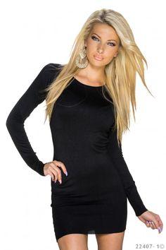 kort strak zwart jurkje