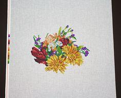 Needlepoint, Painted Needlepoint, Needlepoint Designs, Needlepoint Canvases, Flowers, Needlepoint Flowers, Summer Bouquet Needlepoint Canvas