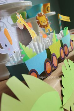 Jungle/Safari Birthday party usng printables by PAPER*GLITTER