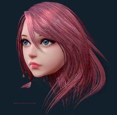 Pink Lady, JD Styles on ArtStation at https://www.artstation.com/artwork/YrKz6