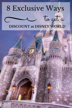 8 Exclusive Ways to Get a Discount at Disney World! #FamilyTravel #DisneyWorld