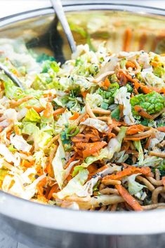 A crunchy napa cabbage slaw full of fresh and crunchy vegetables and drizzled with a creamy ginger soy dressing, this satisfying summer salad is a quick and easy go to! Vegetarian Salad Recipes, Salad Recipes For Dinner, Slaw Recipes, Easy Salad Recipes, Napa Cabbage Recipes, Napa Cabbage Slaw, Savoy Cabbage, Asian Slaw, Thing 1
