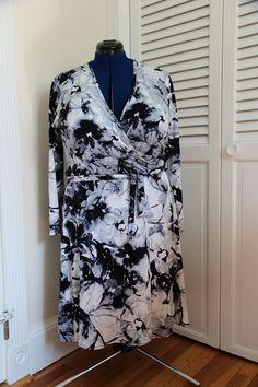 Tutorial: how to finish a wrap dress neckline