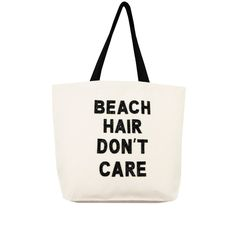 Fallon & Royce Canvas Tote ($78) ❤ liked on Polyvore featuring bags, handbags, tote bags, beach hair, hair, beach tote, canvas totes, beach bag, canvas beach bag and handbags totes