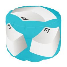 F1 Key Tech Pouf. For the Tech's study or computer room A Sturdy Spun Polyester pouf.  Buy one for your computer room. http://www.zazzle.com/f1_computer_key_pouf-256236646468888749 #pouf #geek #tech #computers #home