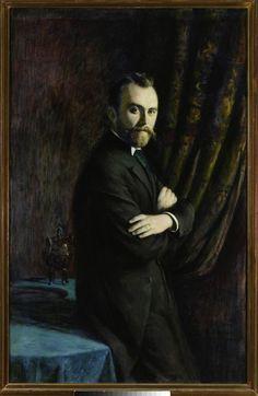 Portret Konrada Dynowskiego ~ Władysław Podkowiński ~ (Polish, 1866-1895)