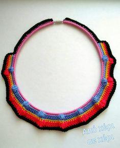 #από_χέρι_σε_χέρι #πλεκτό_κόσμημα #Κλεοπάτρα_Χρήστου #πλεκτο #κοσμημα #κολιε #χειροποιητακοσμηματα #χειροποιητο #γυναικα #μοδα #δωρο #αξεσουαρ #crochetnecklace #crochetjewelry #woman #handmade #crochet #fashion #accessories #style #art #gift #girl #love #colorful #wearit #spring #summer #jewel #necklace